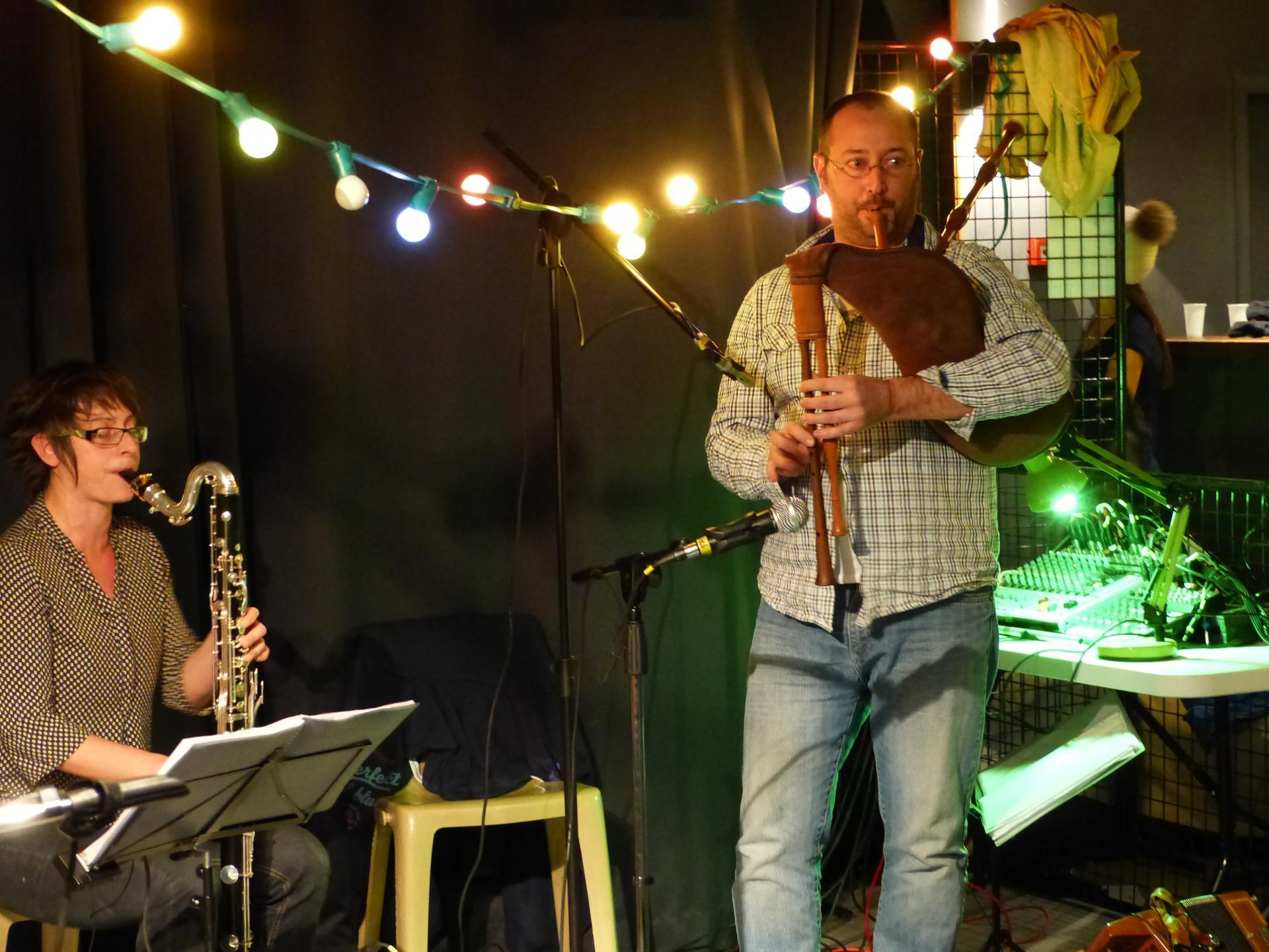 sébastien cornemuse et stéphanie clarinette basse