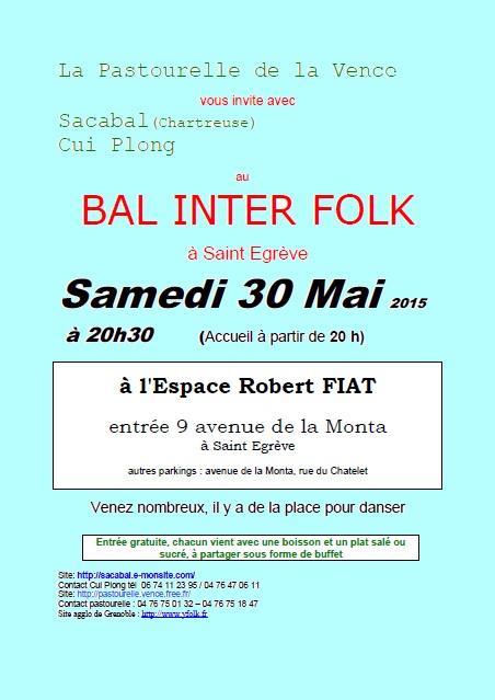 Affiche bal interfolk la pastourelle 30 mai 2015