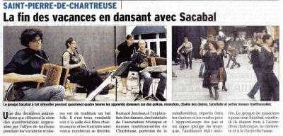Bal des vacanciers 2014 article journal 2009
